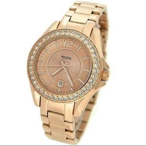 🎉3XHOSTPICK🎉 Fossil Riley Rose Gold Watch ES2889